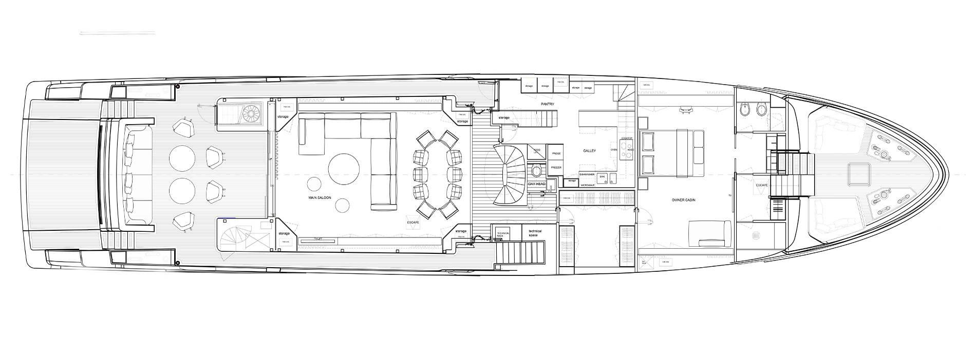 Sanlorenzo Yachts SD118 Главная палуба