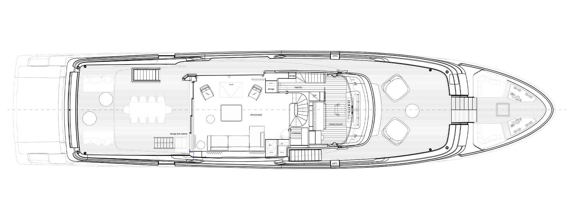 Sanlorenzo Yachts SD118 верхний палуба