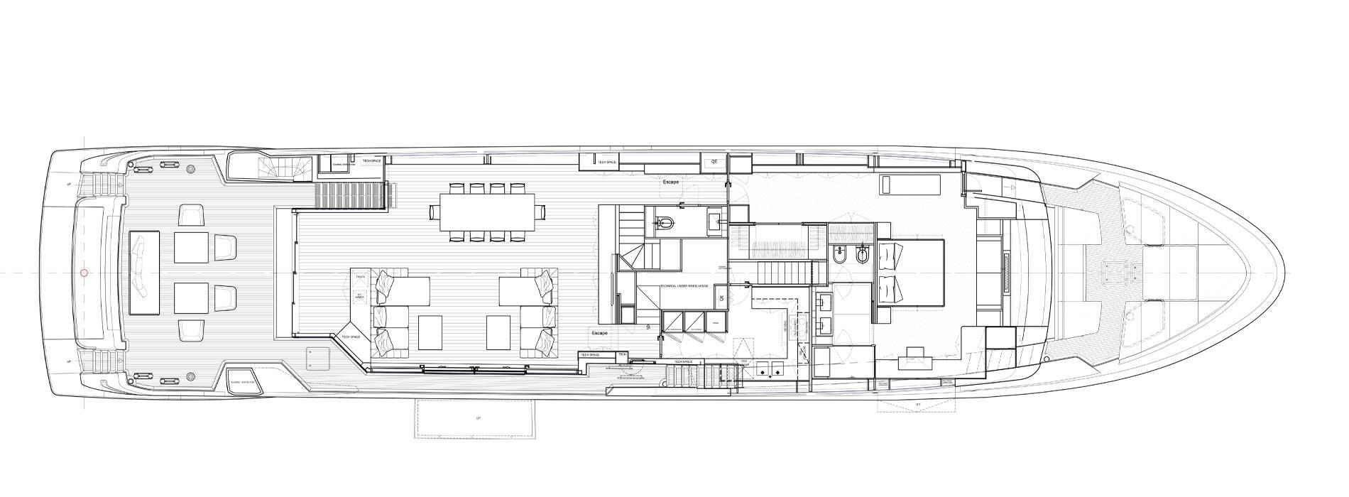 Sanlorenzo Yachts SL120 Asymmetric Главная палуба