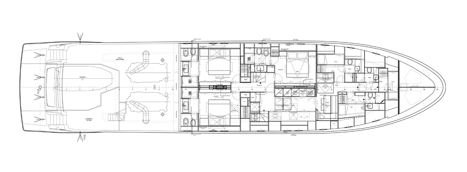 Sanlorenzo Yachts SL106-725 Нижняя палуба