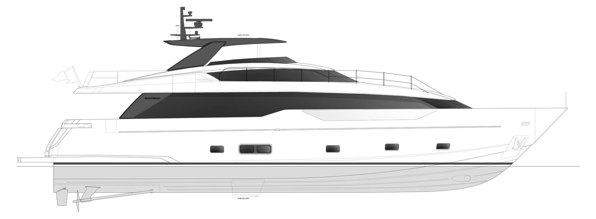 Sanlorenzo Yachts SL90 Asymmetric Профиль