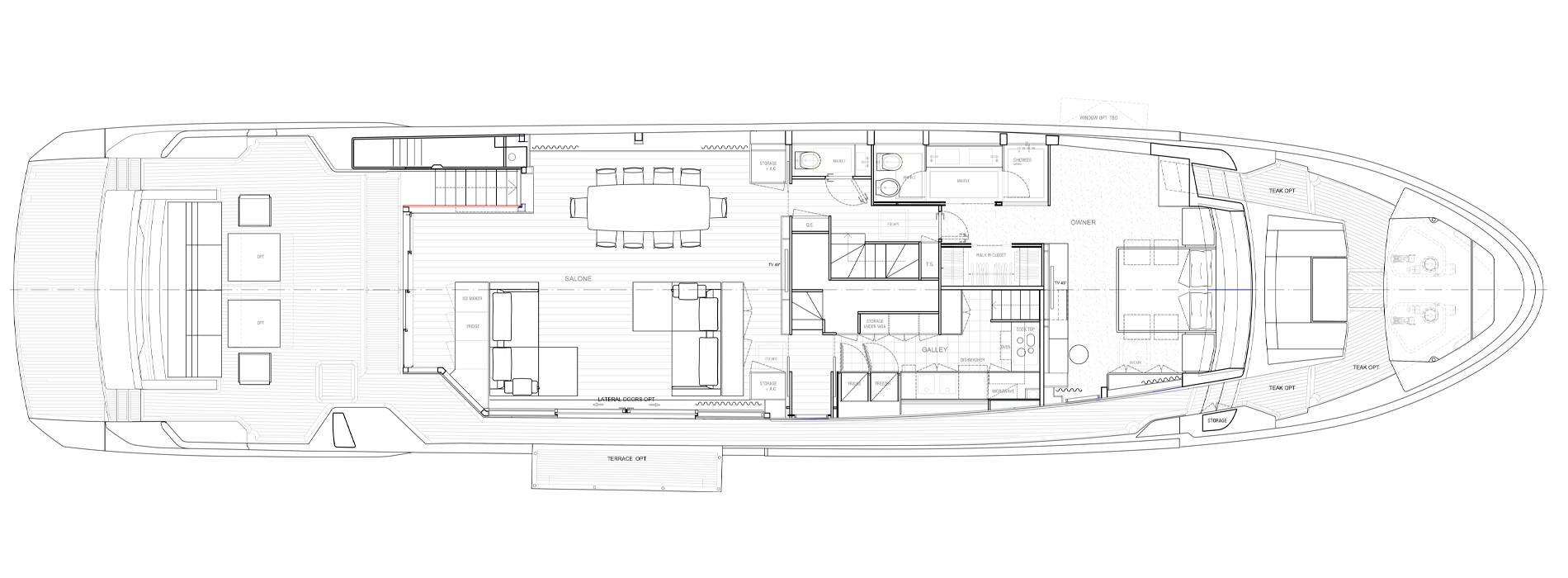 Sanlorenzo Yachts SL106 Asymmetric Главная палуба
