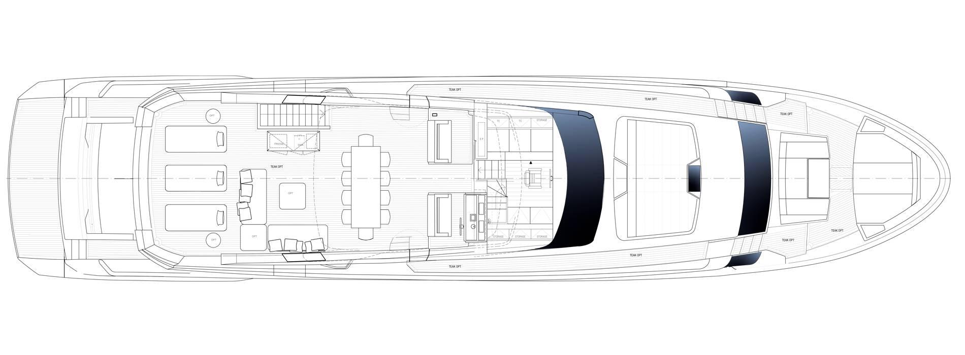 Sanlorenzo Yachts SL106 Asymmetric Флайбридж