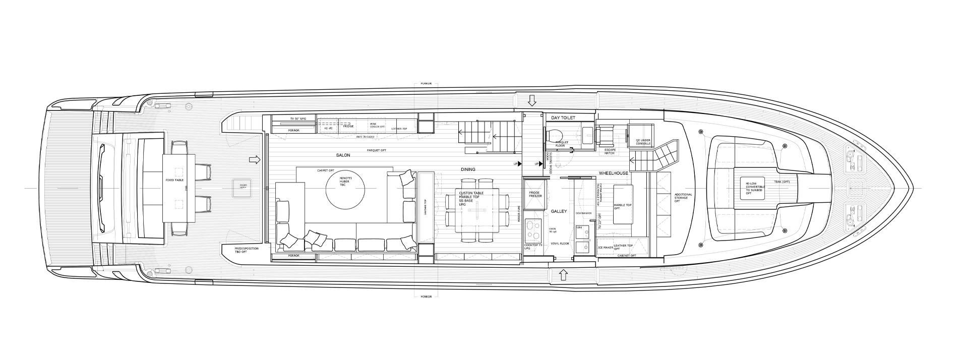 Sanlorenzo Yachts SL86-727 Главная палуба