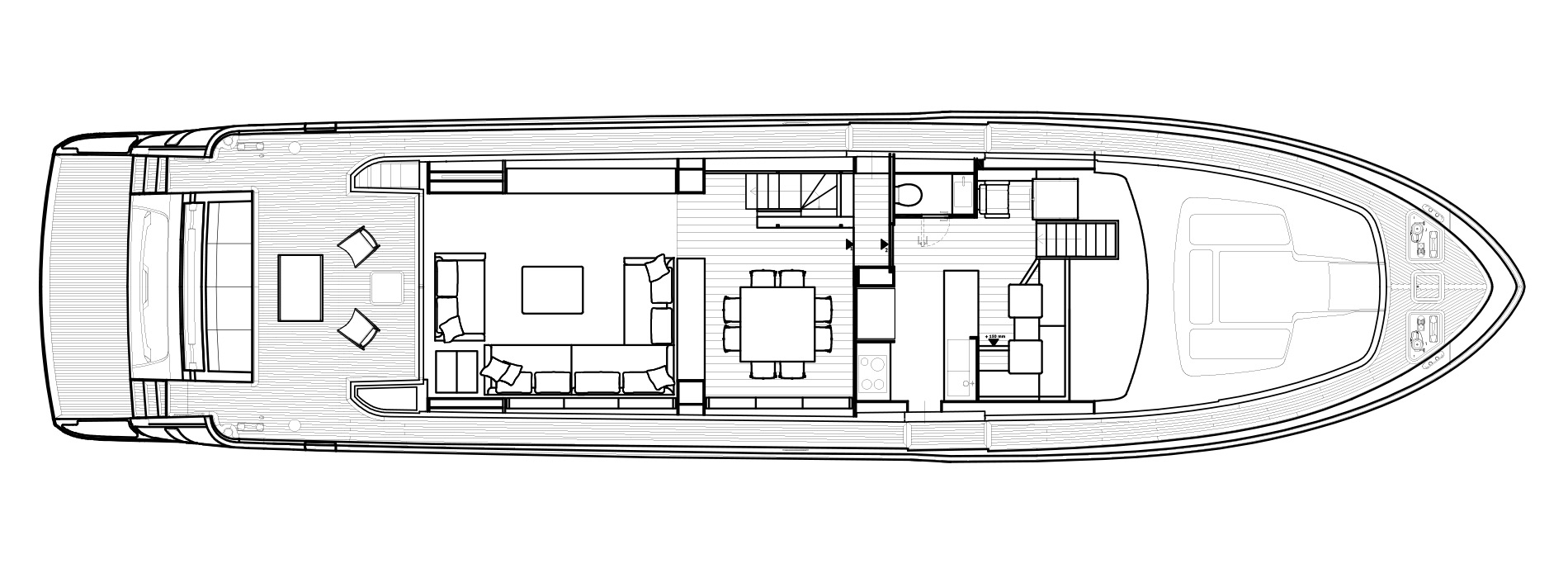 Sanlorenzo Yachts SL86 Главная палуба версия USA