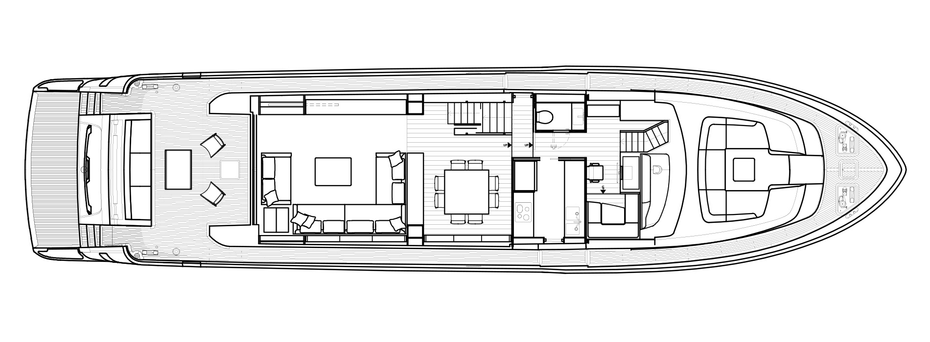Sanlorenzo Yachts SL86 Главная палуба версия A