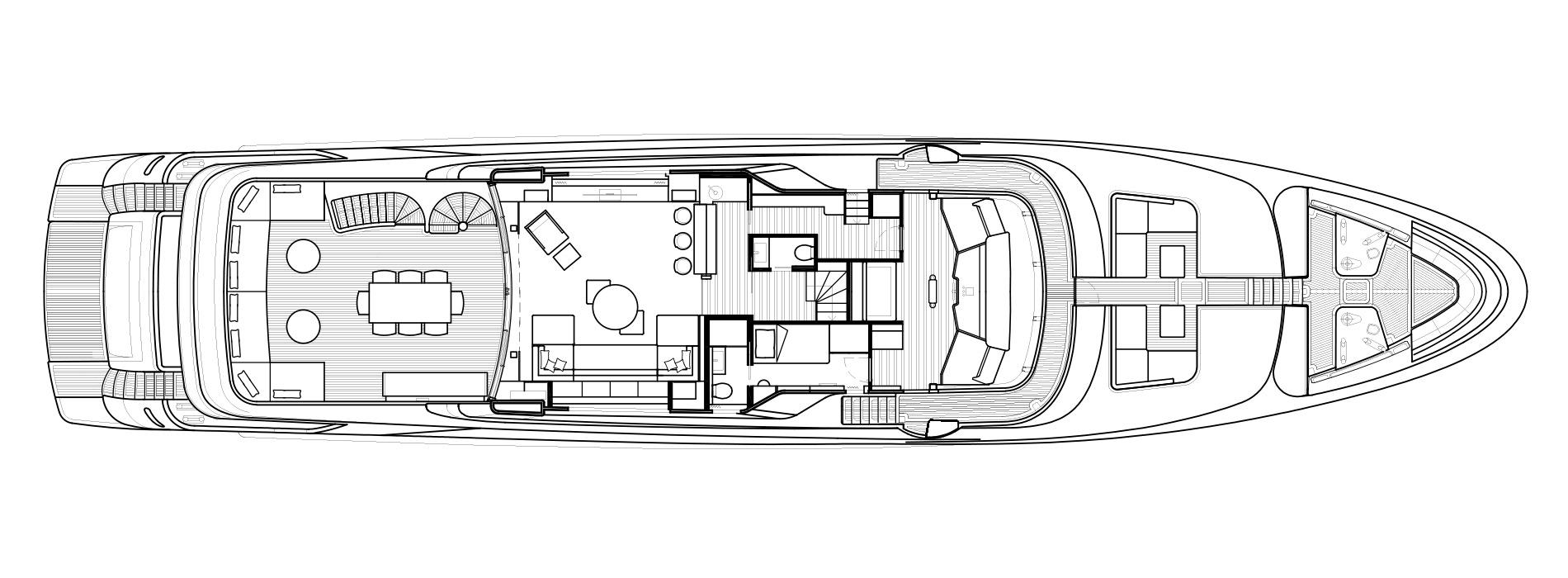 Sanlorenzo Yachts SD126 верхний палуба версия A