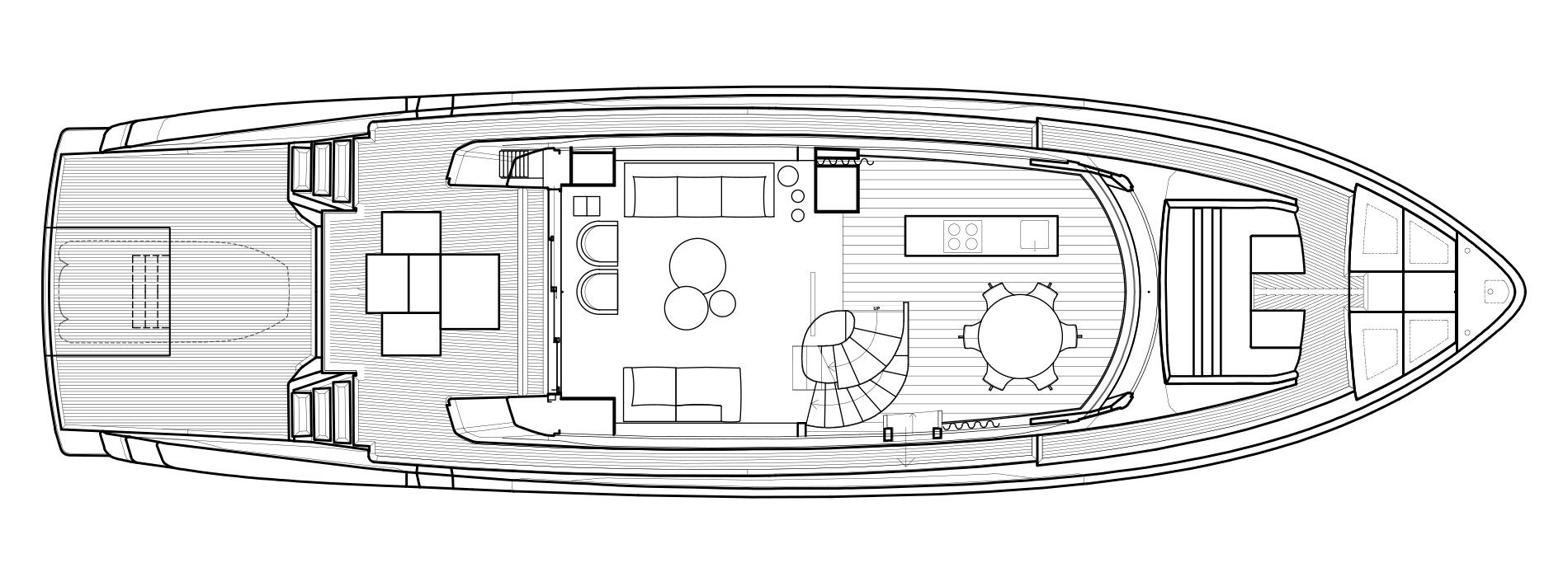 Sanlorenzo Yachts SX76 Главная палуба версия Lissoni