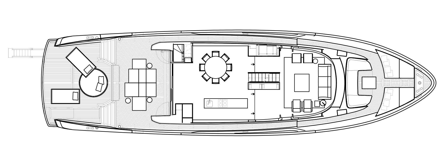Sanlorenzo Yachts SX88 Главная палуба версия Lissoni