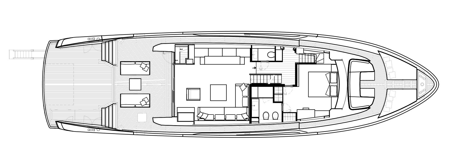 Sanlorenzo Yachts SX88 Главная палуба версия C