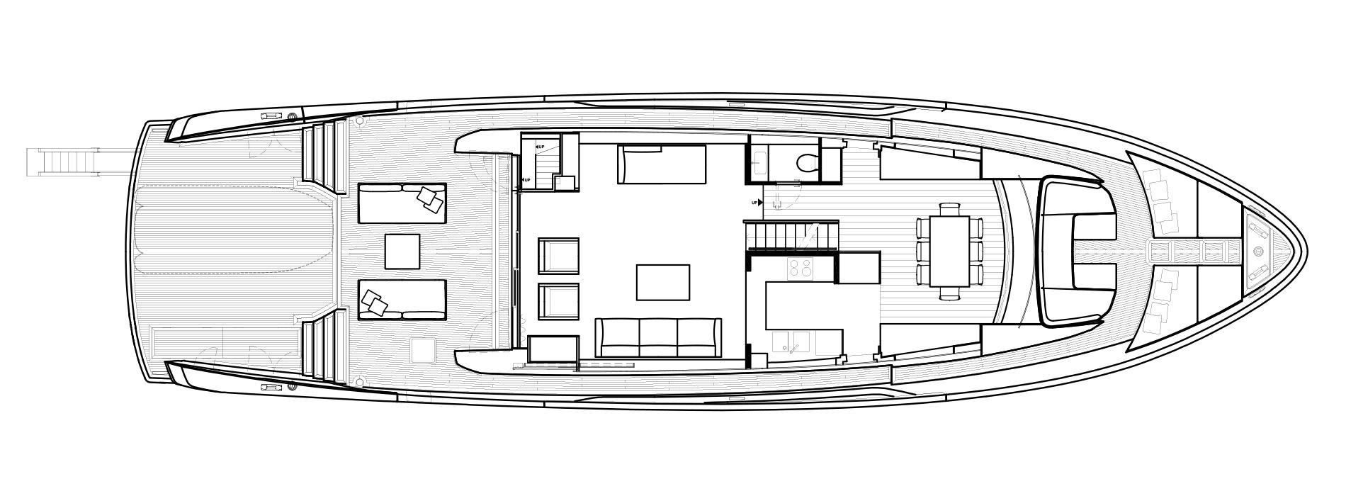 Sanlorenzo Yachts SX88 Главная палуба версия B open Galley