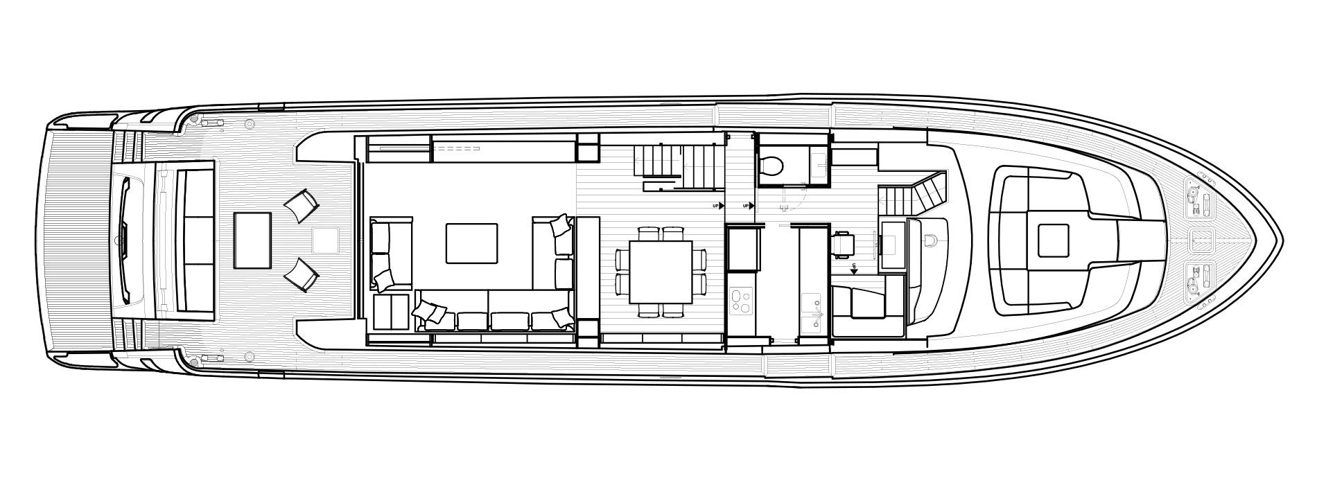 Sanlorenzo Yachts SL86/698 Главная палуба версия A