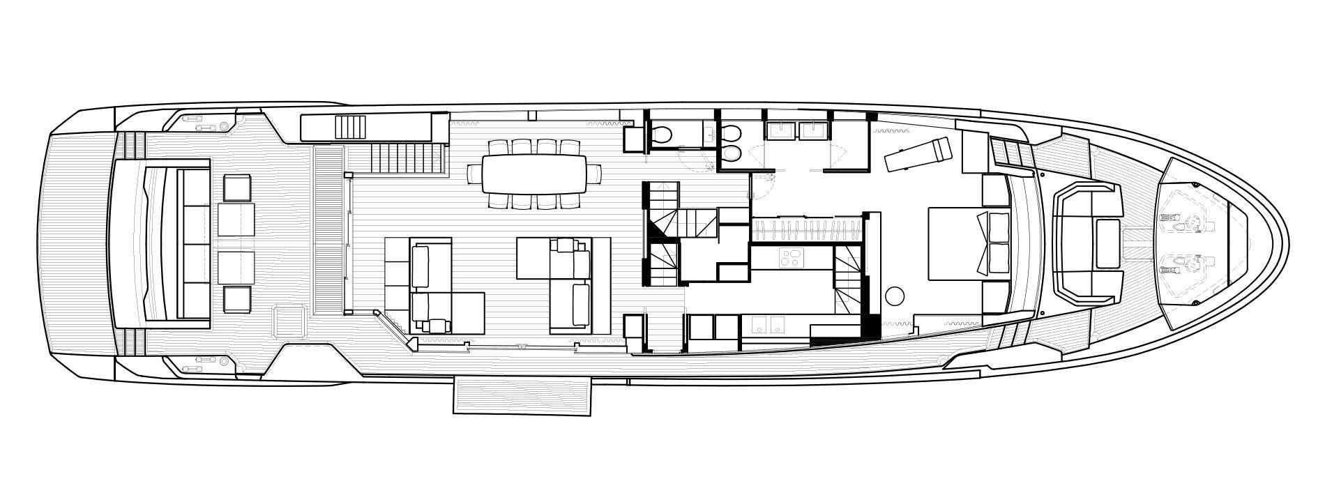 Sanlorenzo Yachts SL102 Главная палуба