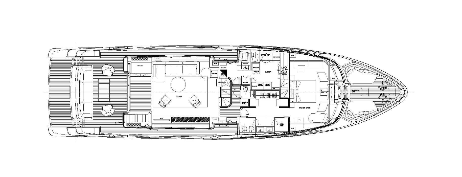 Sanlorenzo Yachts SD96  Главная палуба