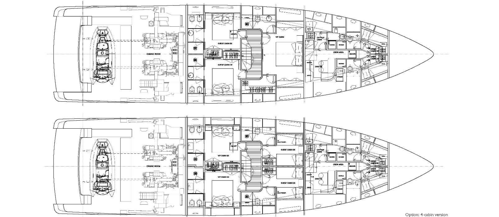 Sanlorenzo Yachts SD96 Нижняя палуба